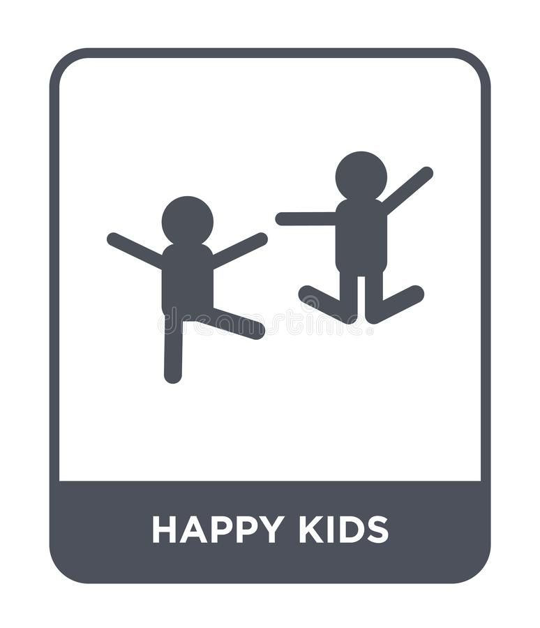 happy kids icon in trendy design style. happy kids icon isolated on white background. happy kids vector icon simple and modern stock illustration