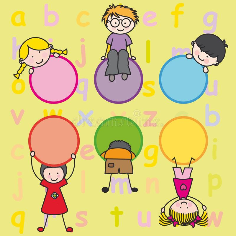 Download Happy kids playing stock vector. Image of animated, children - 23149010