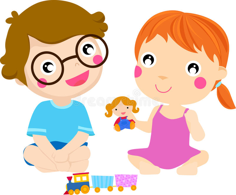Download Happy kids playing, stock vector. Illustration of healthy - 27562601