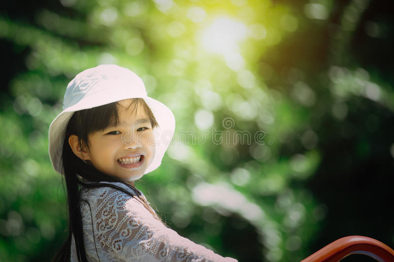 Happy of kids playing at the park royalty free stock photography