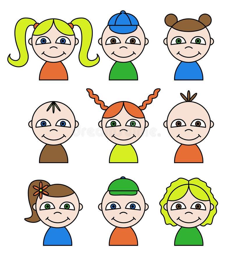 Download Happy kids,  set stock illustration. Illustration of children - 14518543
