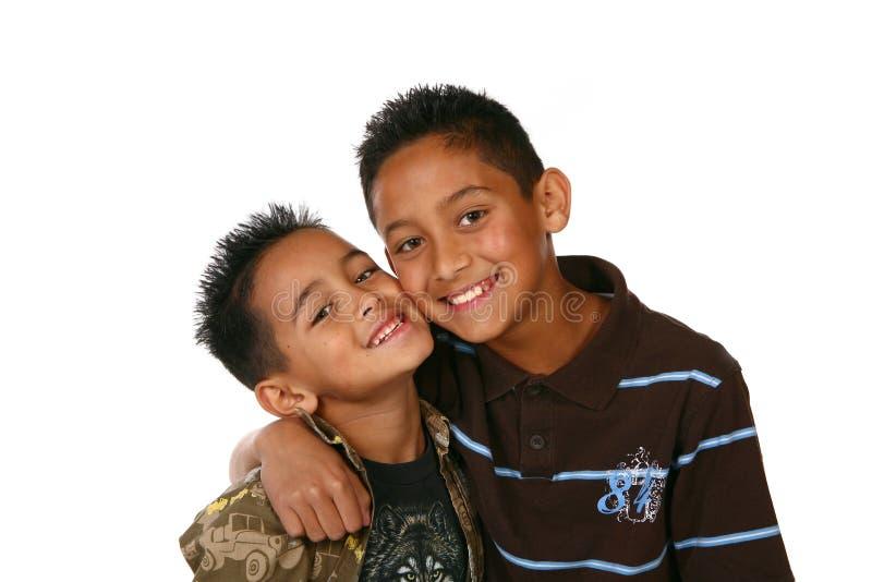 Happy Kids on White stock photos