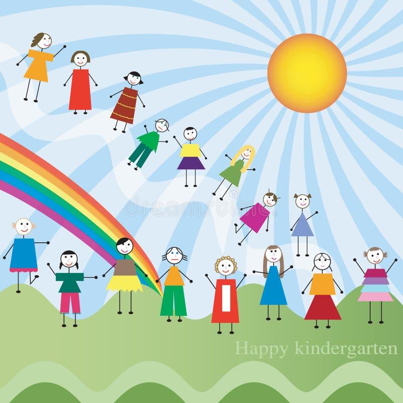 Download Happy kindergarten stock vector. Illustration of color - 20588422