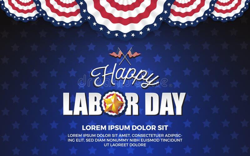 Happy Labor day background royalty free illustration