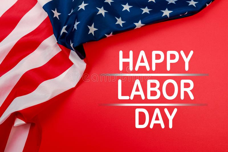 Happy Labor day banner, american patriotic background - Image stock images
