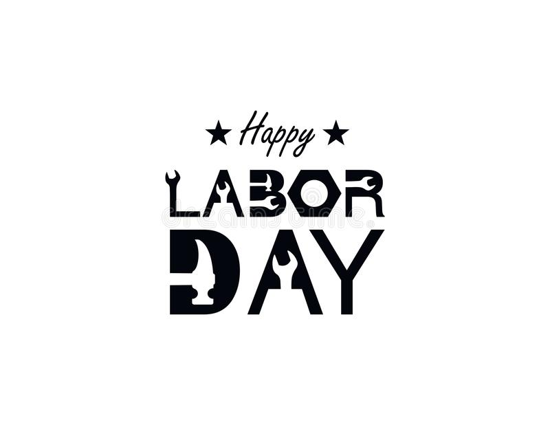 Happy Labor Day banner. Design template. Vector illustration. royalty free illustration