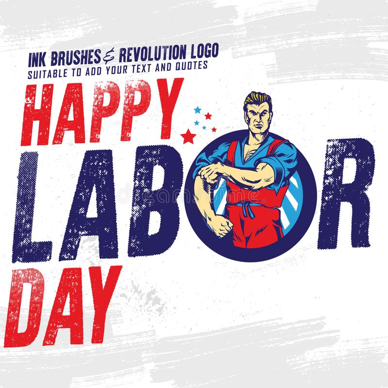 Happy Labor Day banner. Design template. Vector illustration. stock illustration
