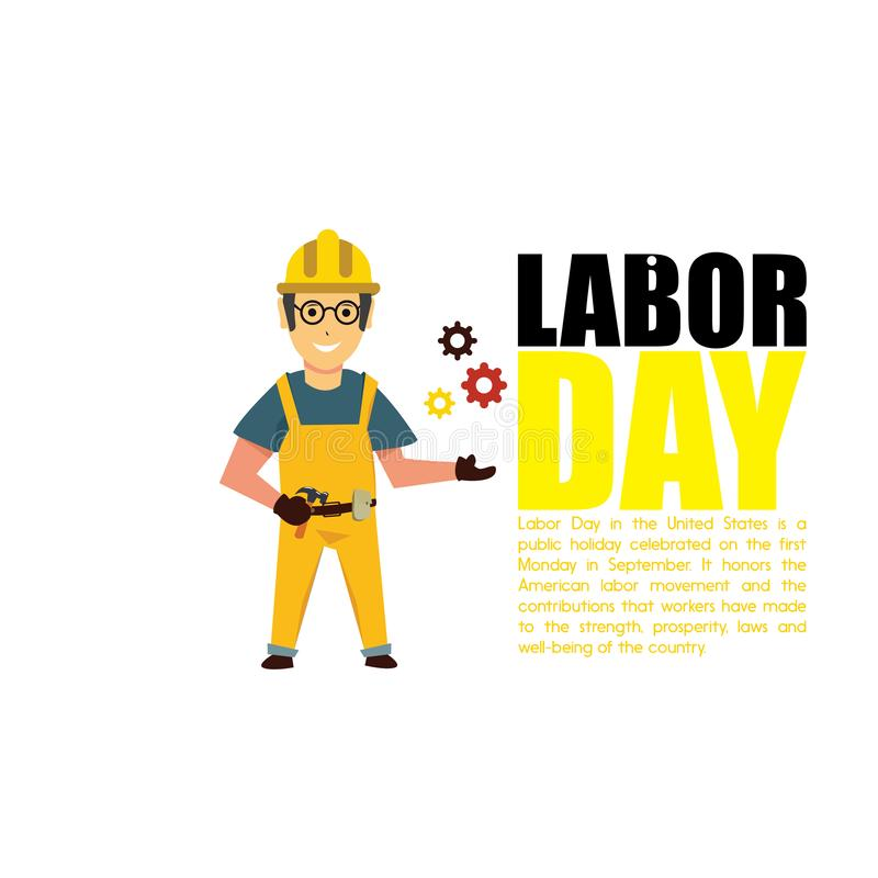 Happy Labor Day banner. Design template. Vector illustration - Vector stock illustration