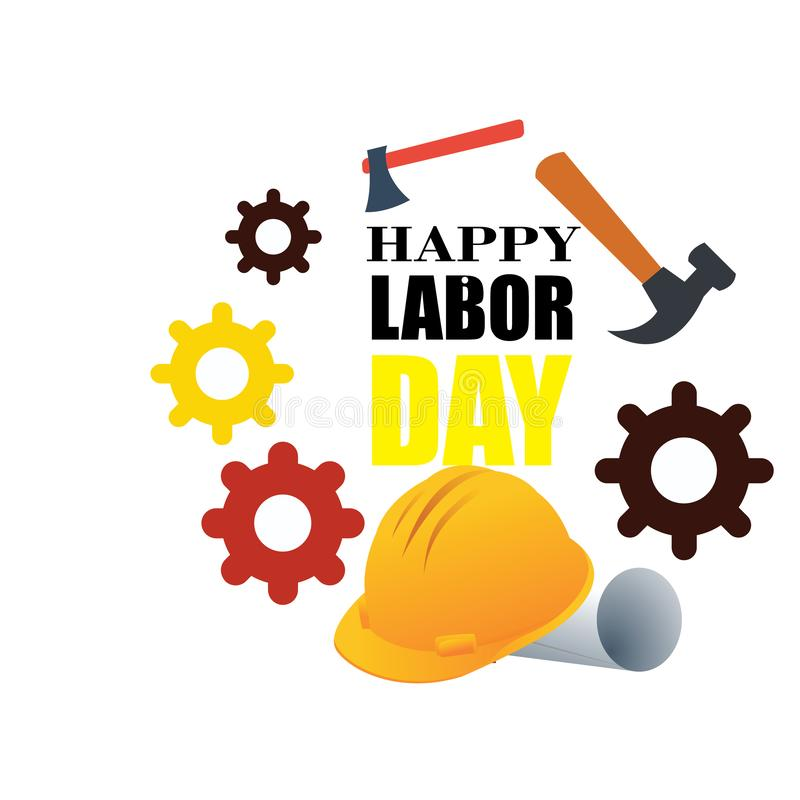 Happy Labor Day banner. Design template. Vector illustration - Vector. Happy Labor Day banner. Design template 1 st may. Vector illustration - Vector royalty free illustration