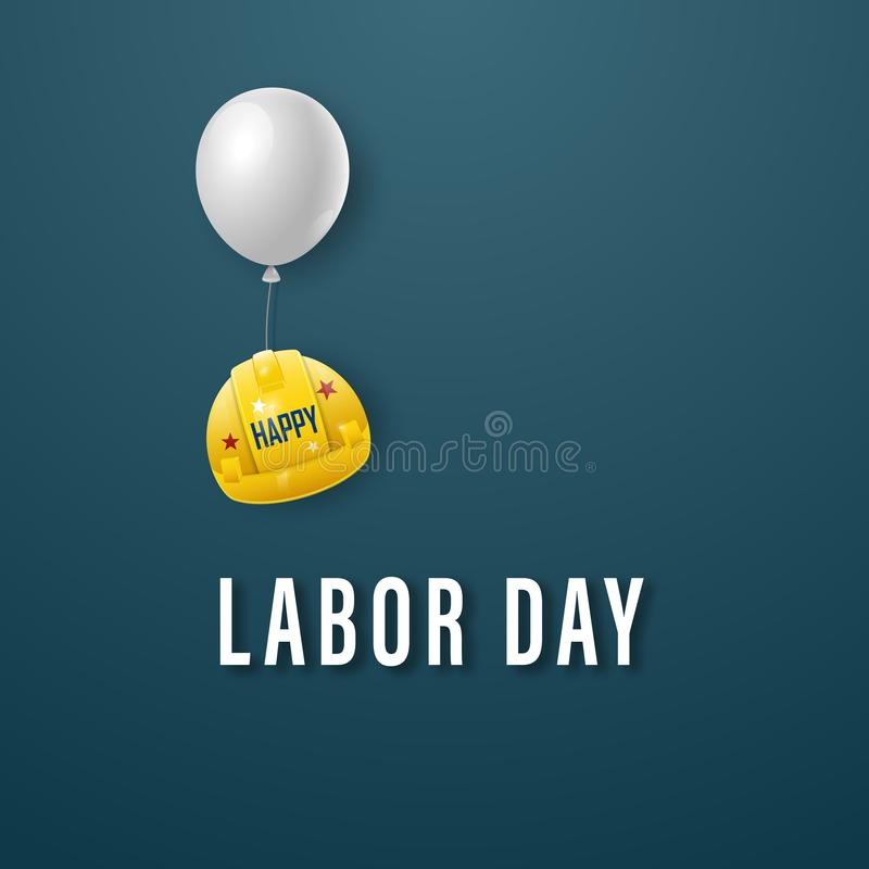 Happy labor day banner. Template for design. stock illustration