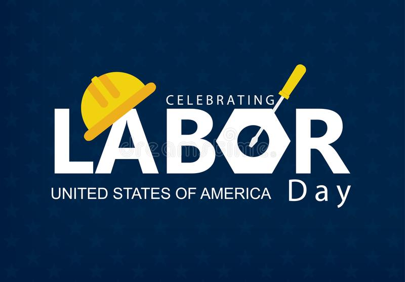 Happy Labor Day banner vector illustration royalty free stock photo