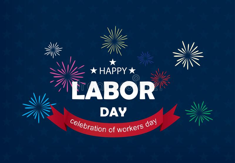 Happy Labor Day banner vector illustration stock photos