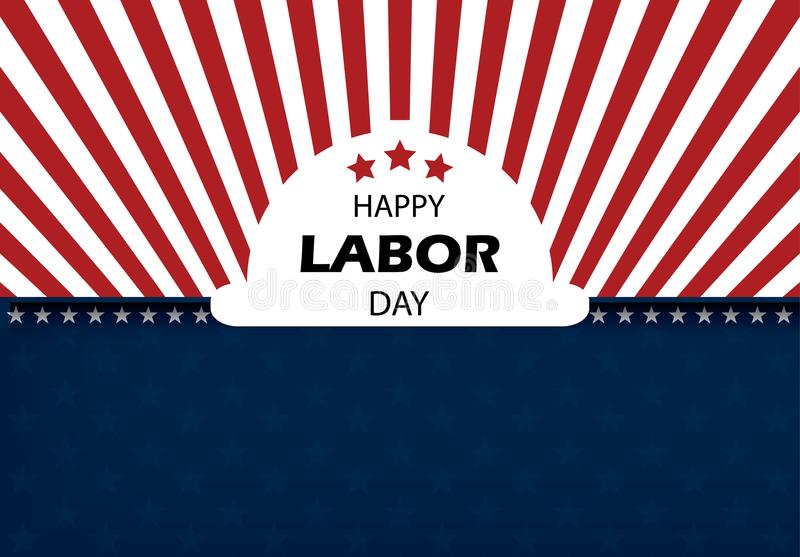 Happy Labor Day banner vector illustration stock image