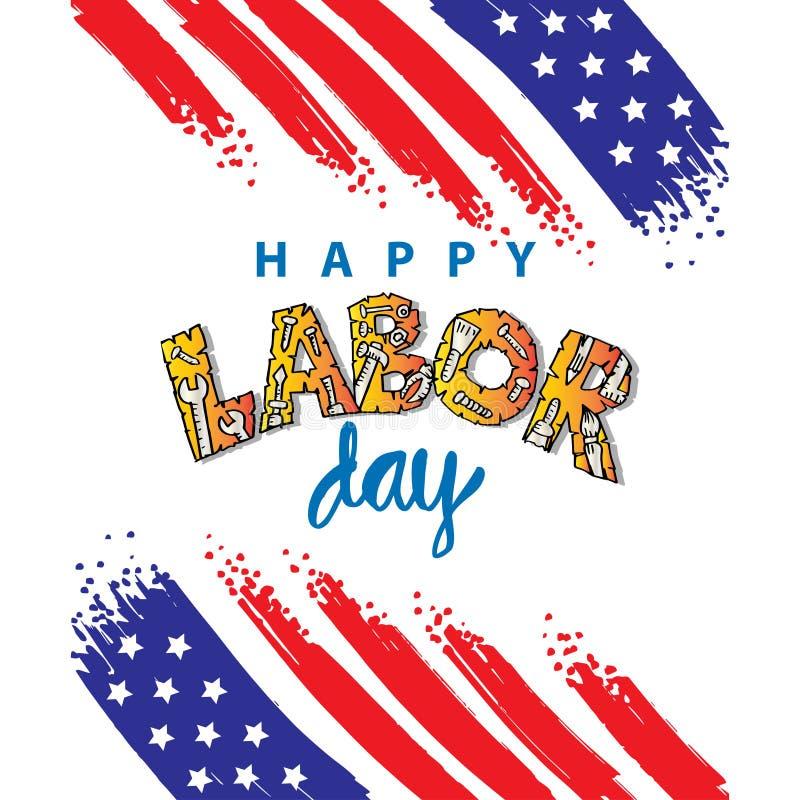 Happy labor day design poster. vector illustration