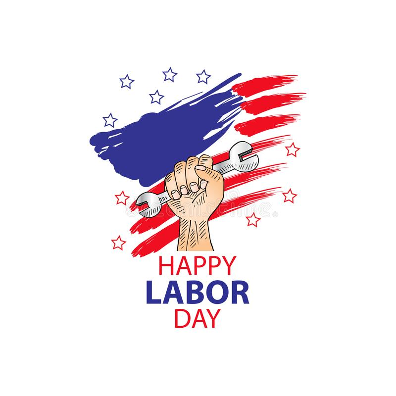 Happy labor day design poster. stock illustration