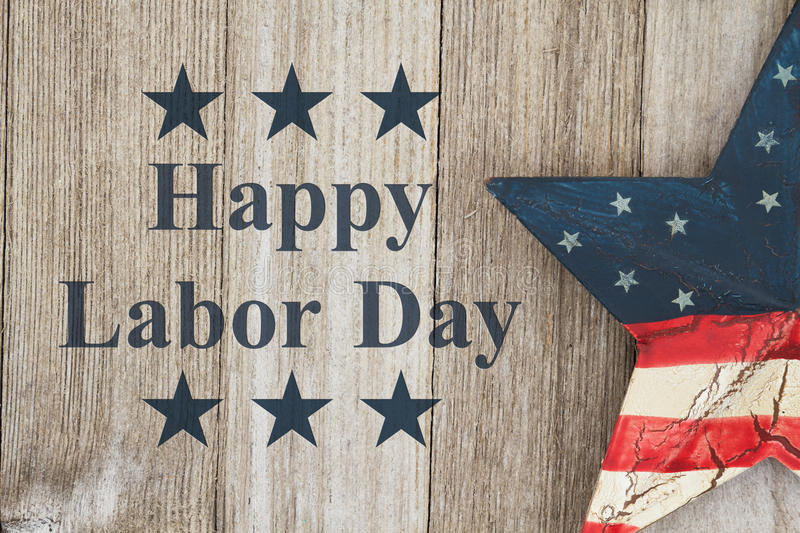 Happy Labor Day Greeting stock photography