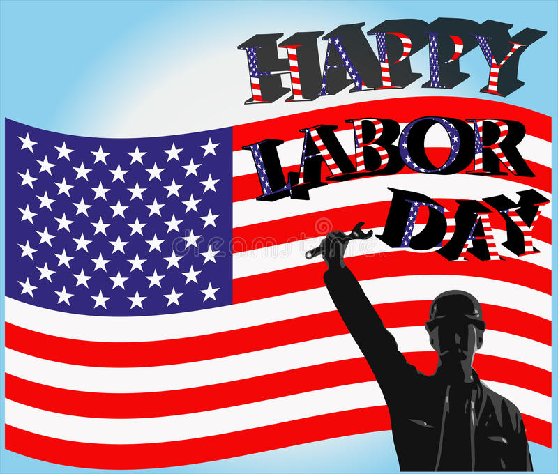 Happy labor day stock illustration
