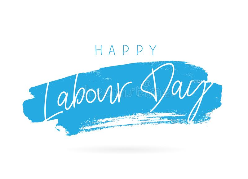 Happy Labor Day. Lettering stock illustration