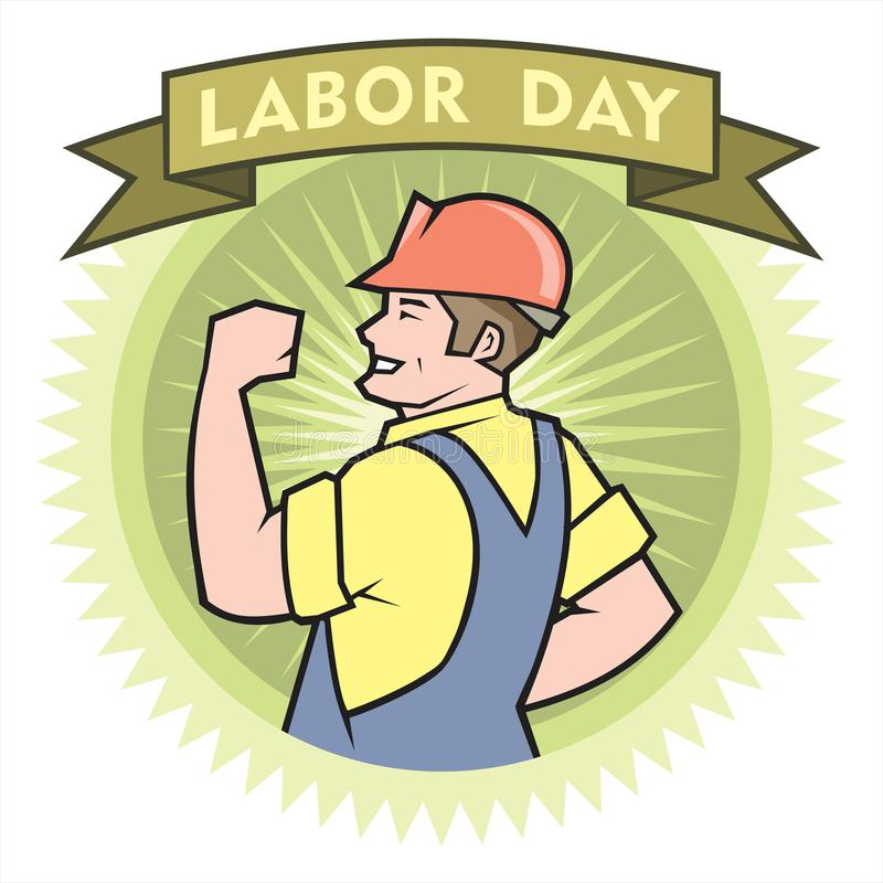 Happy Labor Day royalty free illustration