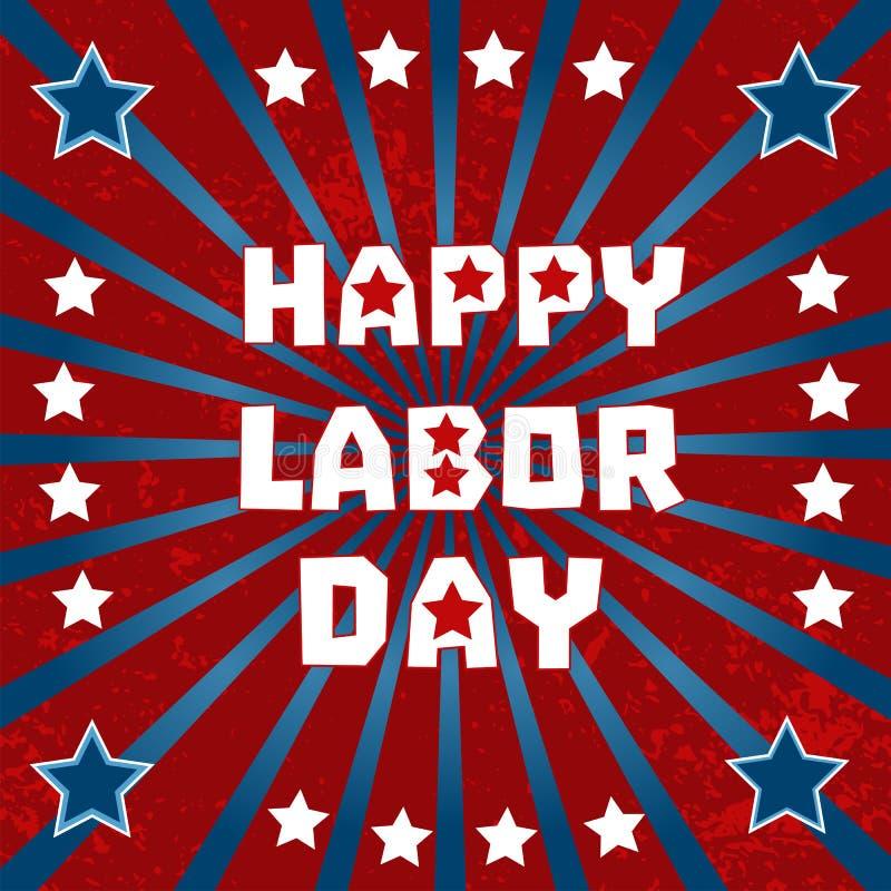 Happy labor day royalty free illustration