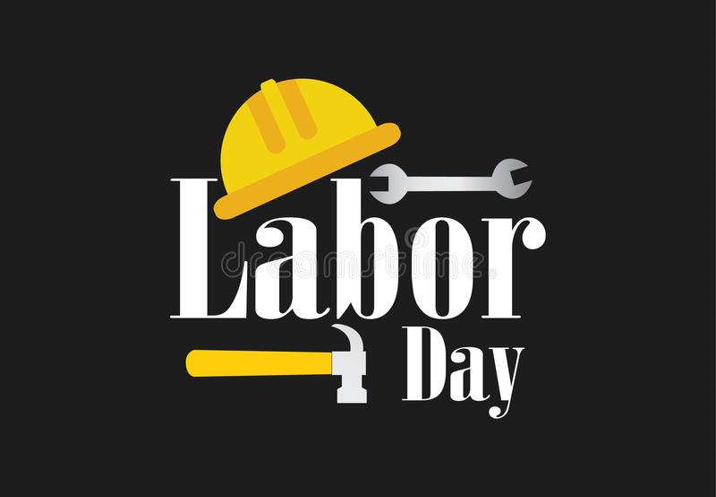 Happy Labor Day banner vector illustration stock photo
