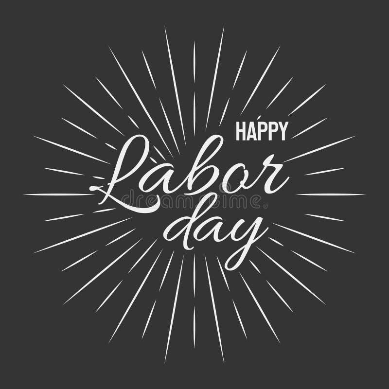 Happy Labor Day! vector illustration on black background stock illustration