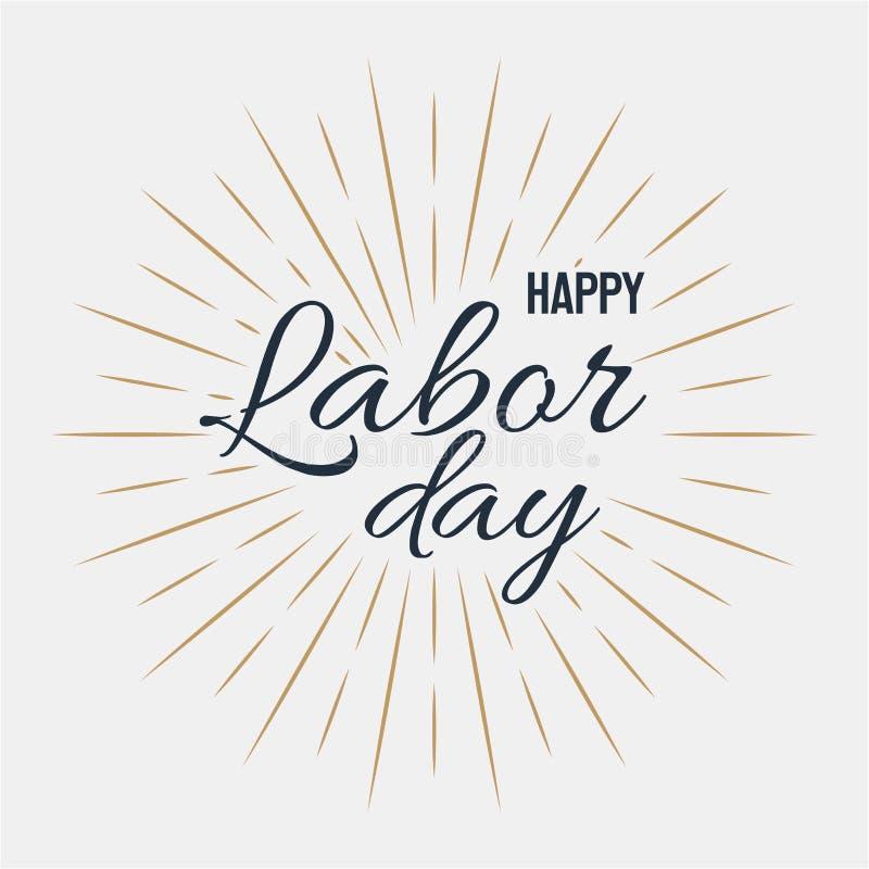 Happy Labor Day! vector illustration on grey background royalty free illustration