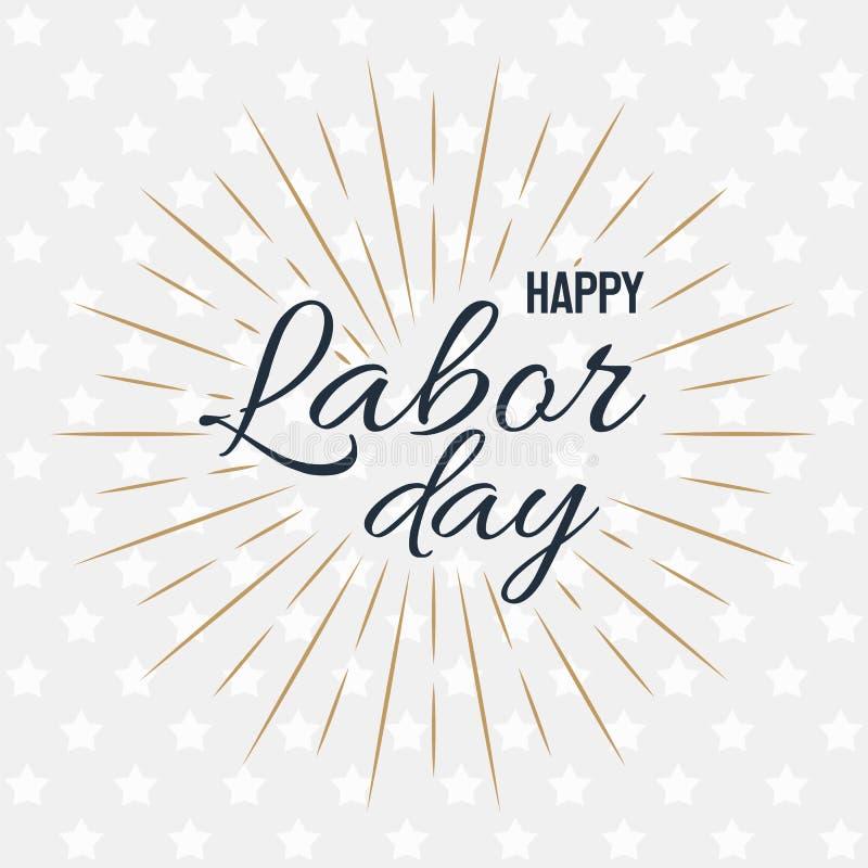Happy Labor Day! vector illustration on grey background stock illustration