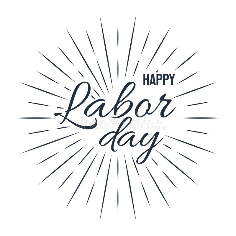 Happy Labor Day! vector illustration on white background vector illustration