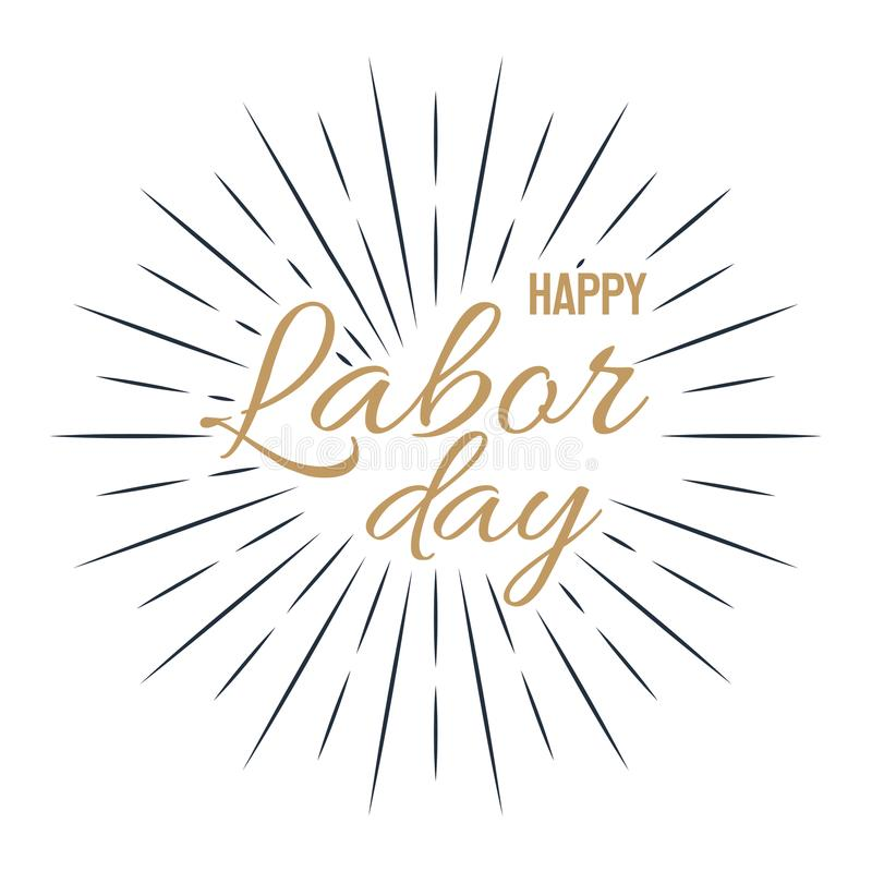 Happy Labor Day! vector illustration on white background royalty free illustration