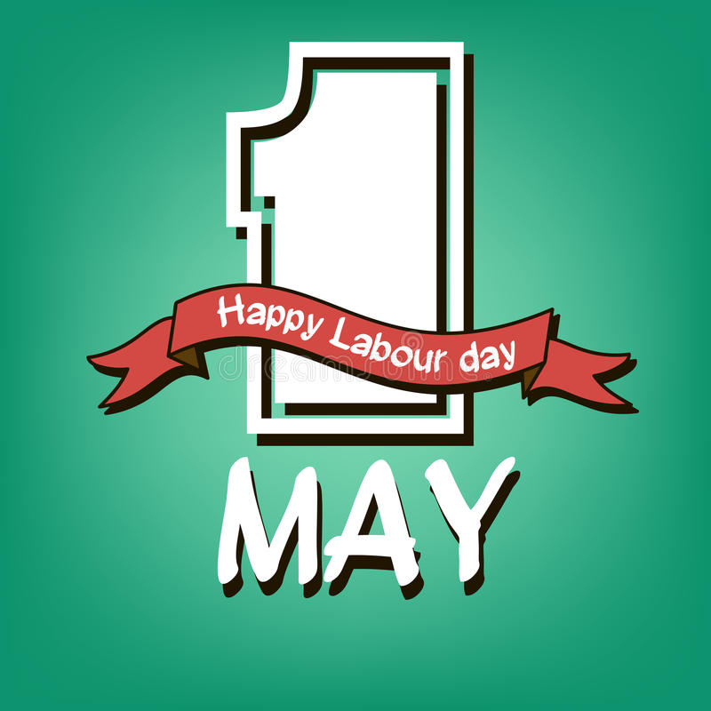 Happy Labour day stock illustration