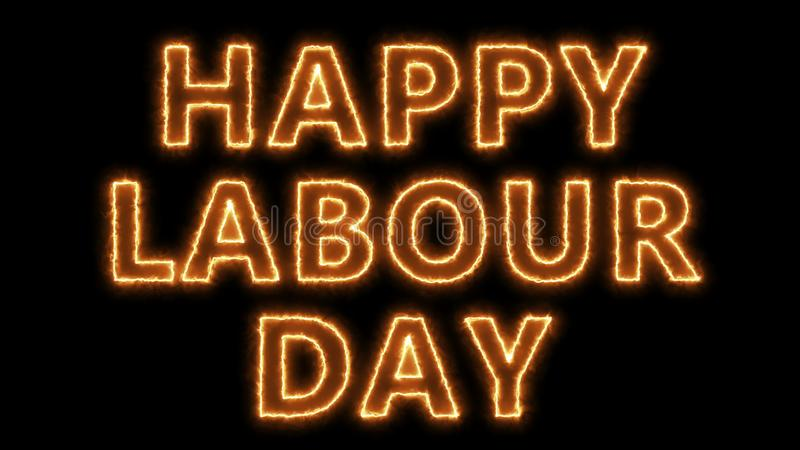 Happy labour day text, 3d rendering backdrop, can be used for holidays festive design. Happy labour day text, 3d rendering backdrop, computer generating, can be vector illustration