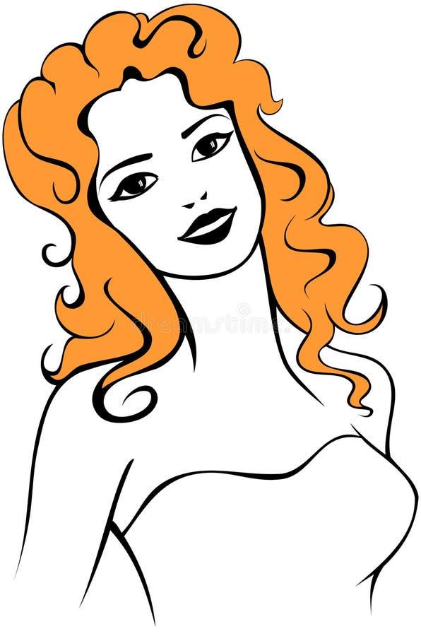 Download Happy lady stock vector. Image of salon, single, redhead - 9365531
