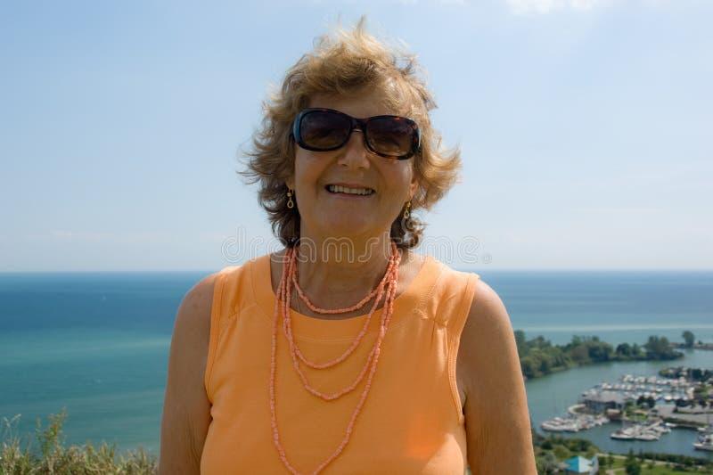 happy lady senior στοκ φωτογραφία