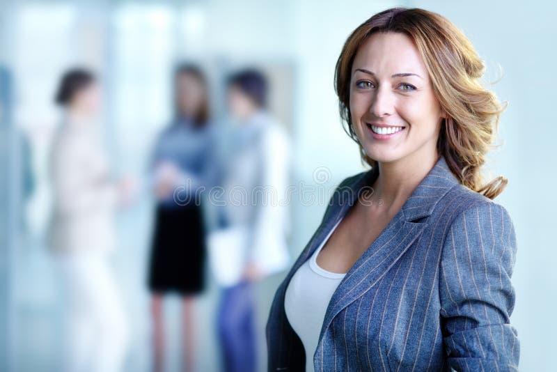 Happy leader stock photo