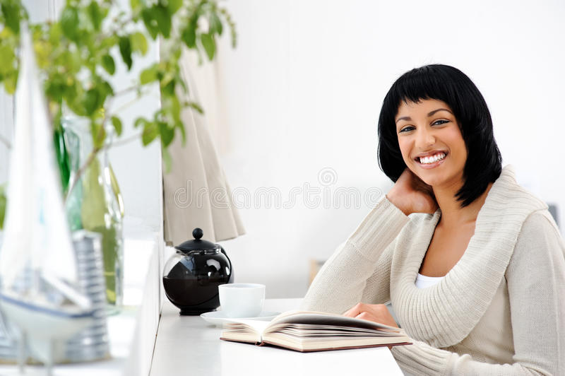 Download Happy Leisure Woman With Book Royalty Free Stock Photo - Image: 21548435