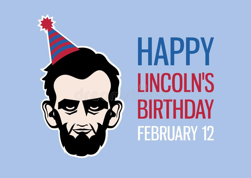Happy Lincoln`s Birthday vector stock photography