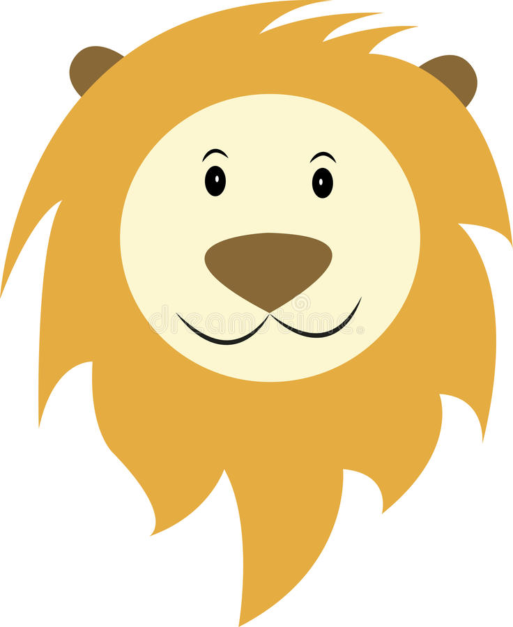 Happy lion royalty free stock photos