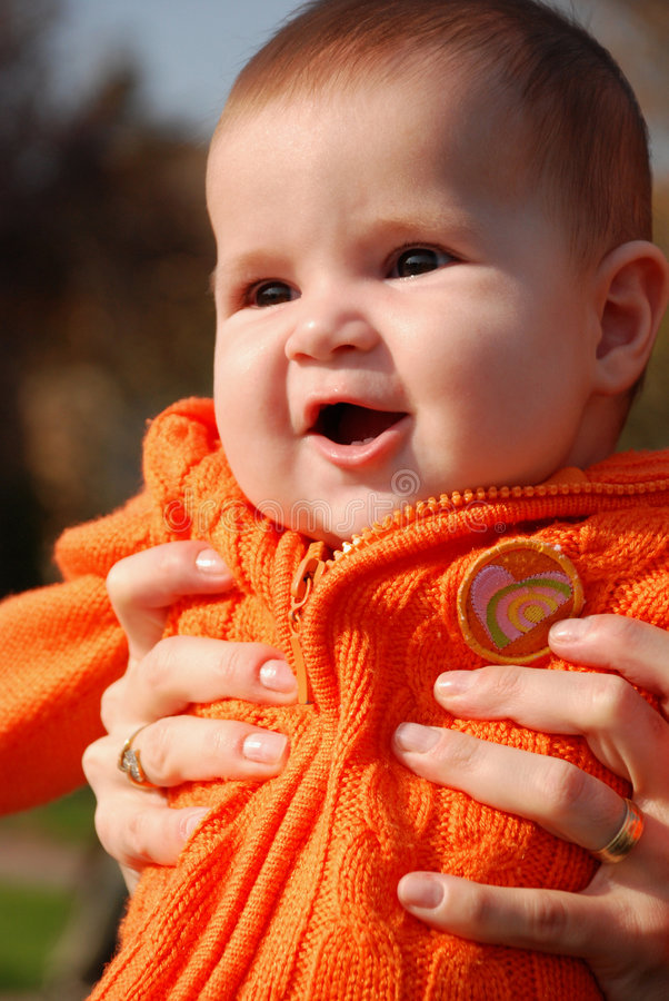 Happy Little Baby Royalty Free Stock Images