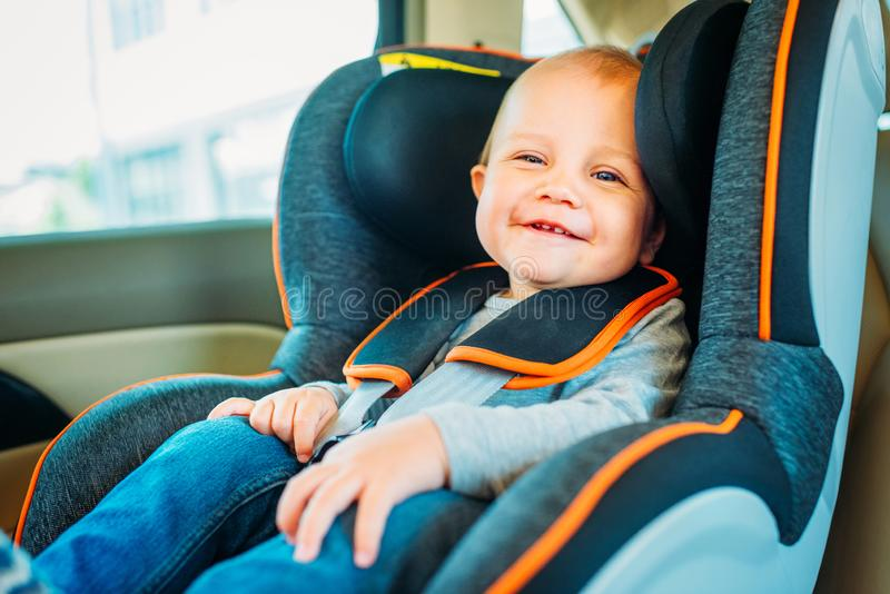 happy little baby sitting in child royalty free stock photos