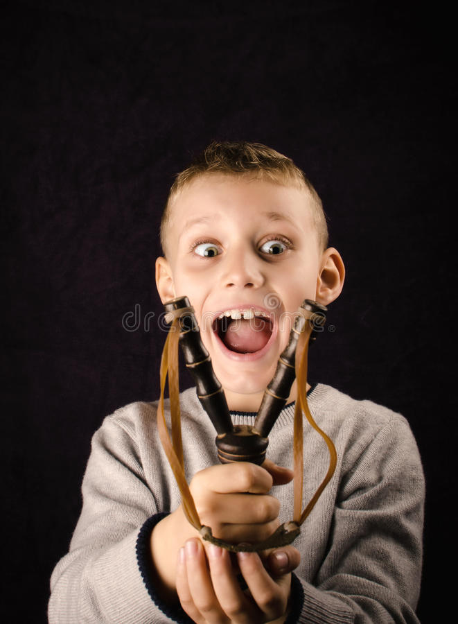 Happy little boy royalty free stock image