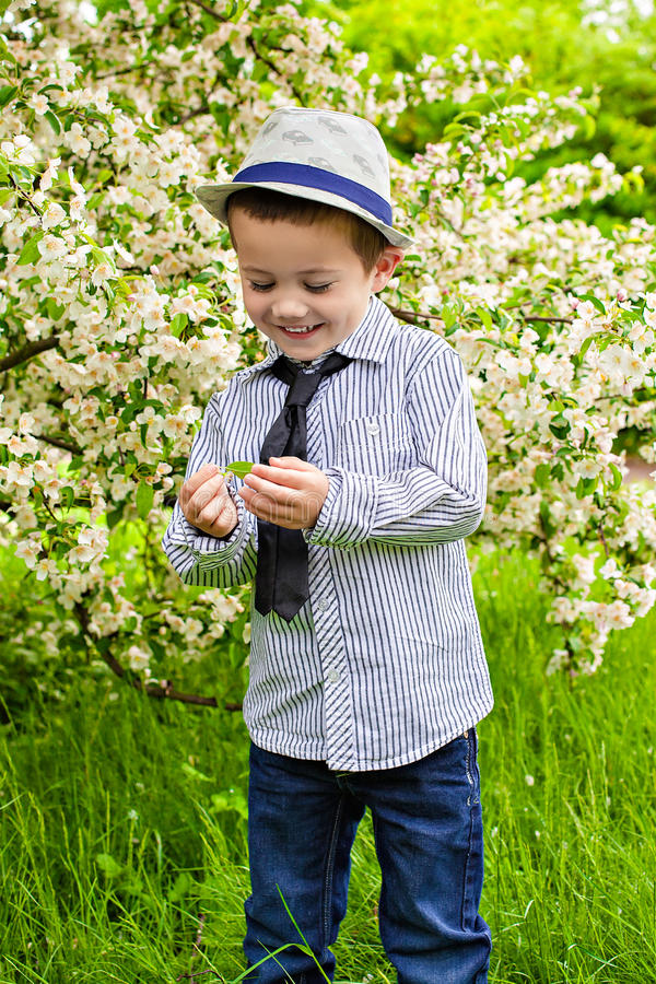 Happy Little Boy Smiling Royalty Free Stock Photography