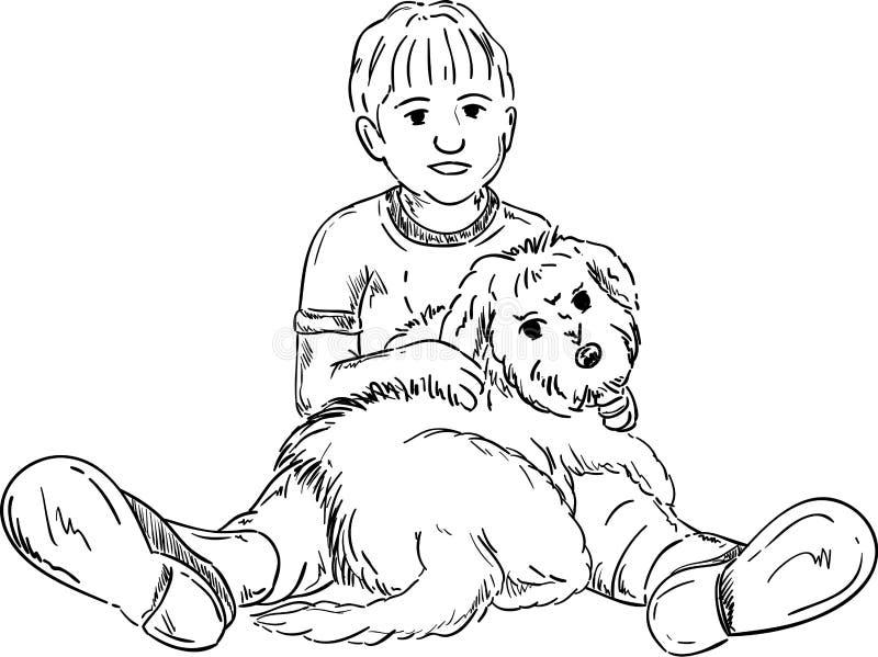 Happy little boy royalty free illustration