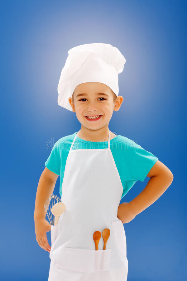 Happy little chef royalty free stock image