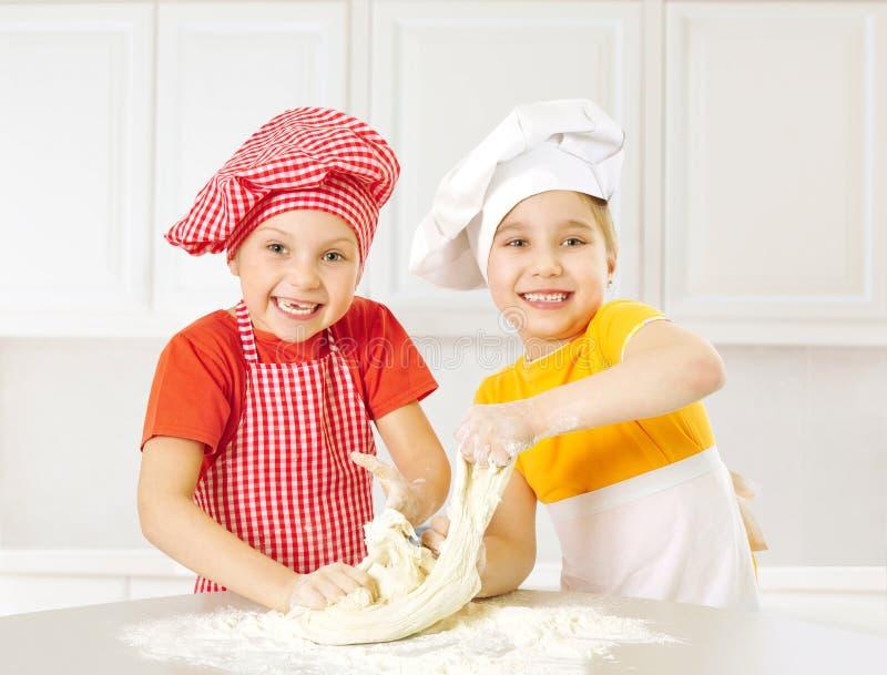 Happy little chefs stock photos