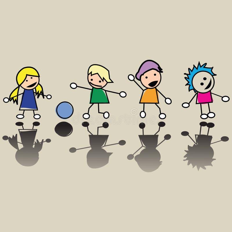 Download Happy little children stock vector. Image of kids, life - 10914741
