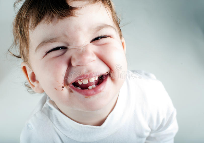 Download Happy little girl stock photo. Image of brown, beautiful - 20845220