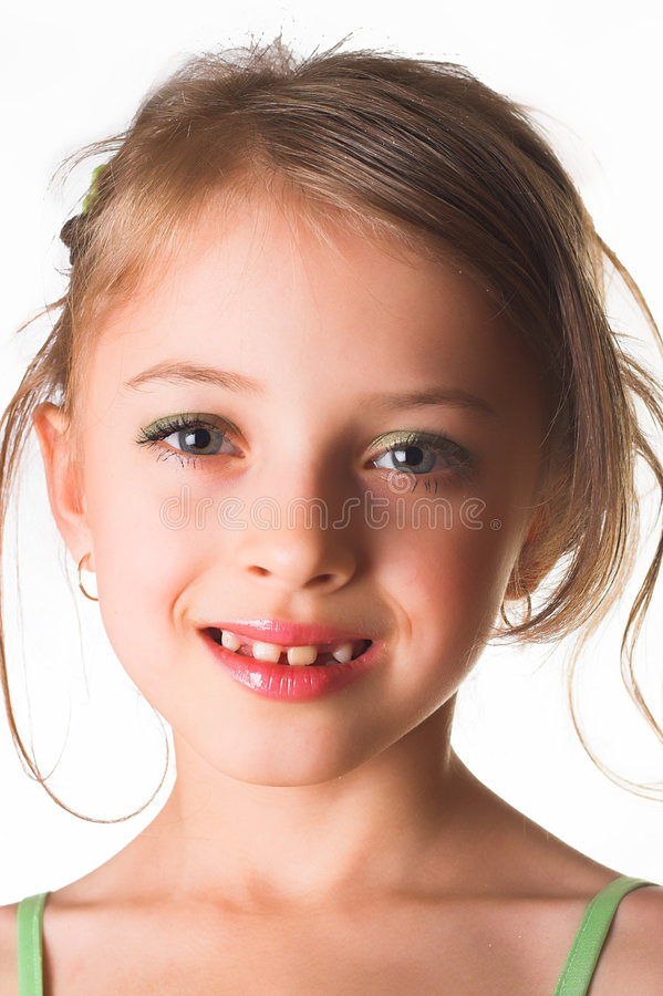 Download Happy little girl stock photo. Image of expressions, eyes - 2305398