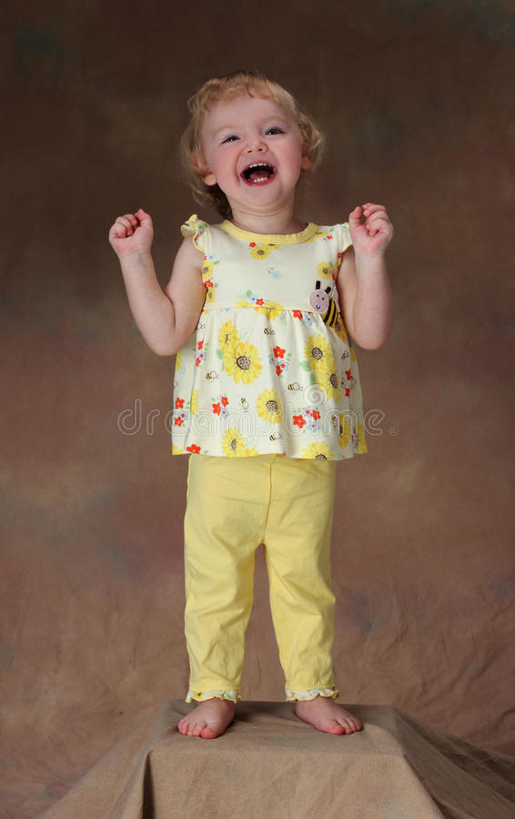 Download A happy little girl stock image. Image of jovial, cute - 23880157