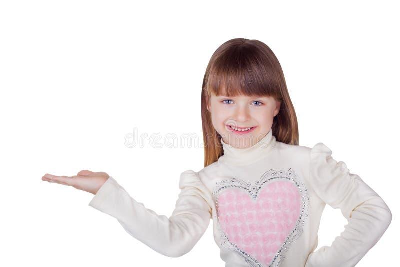 Happy little girl stock image